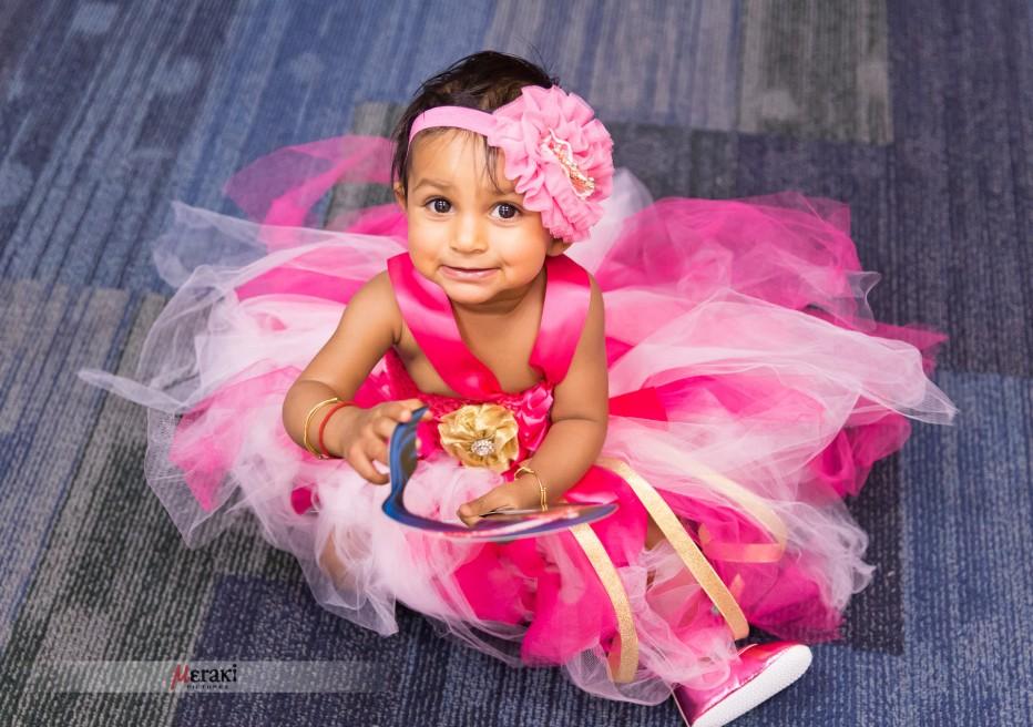 Aadya's first birthday